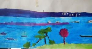 part of mural