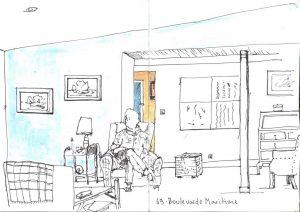 Sitting room at No69 - small